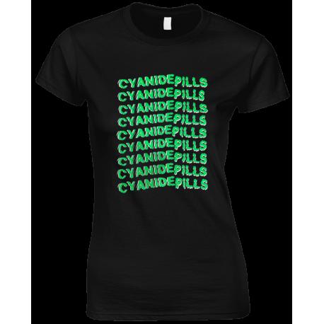 White/Green Multilogo Women's T-shirt